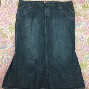 4949b58c248 Women s Long Blue Jean Skirts Plus Size on Poshmark